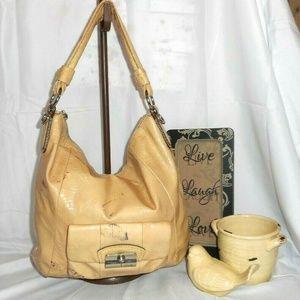 COACH Kristin Putty Patent Leather Hobo Bag
